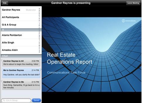 Lotuslive Meetings on iPad