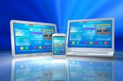 9959524-white-tablet-pc-smartphone-and-laptop-isolated-on-blue-abstract-reflective-background